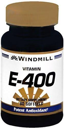 Windmill Vitamin E-400 IU Dietary Supplement - 90 Softgels