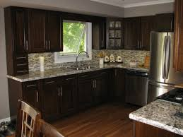 Kitchen Backsplash Ideas With Dark Oak Cabinets by Kitchen Delightful Images Of At Exterior Gallery Dark Oak