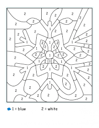 Kindergarten Color By Number Free Coloring Pages
