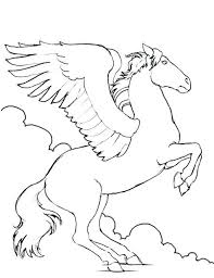 Pegasus Coloring Pages Well Suited Design 2 To Print Printable For Kids Adults