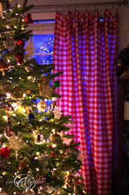 Crushed Voile Curtains Christmas Tree Shop by Use Tablecloths For Holiday Curtains U0026 Pillows Create And Babble