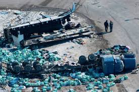 Calgary Truck Company Owner Apologizes For Hockey Bus Crash - Trail ... No Injuries No Spill When Truck Carrying Diesel Crashes In Freeport Victims Identified I30 Crash Mt Pleasant News Ktbscom Two Trucks Crash On N1 Daily Sun The Definitive 11foot8 Bridge Crash Compilation Youtube Truck Full Of Dominos Pizza Dough Crashes Rises Across Road Stolen Truck Crashed This Serious I5 At A Work Zone Serves As Warning Family 5 Taken To Hospital After With Aaa Tesla Model Xs Fall Off Chinese Transport That Broke Apart Proposed Restriction For Trucks News24