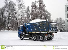 A Truck Full Of Snow, Snow Cleaning After Extreme Snowfall ...
