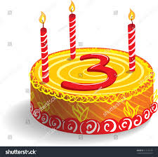Third Birthday Cake Stock Vector Shutterstock
