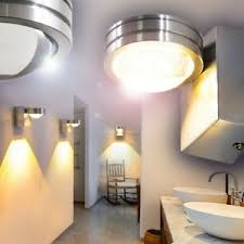 details zu led wandleuchte design badezimmer nassraum bad linse strahler spot ip44