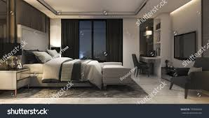 100 Modern Luxury Bedroom 3d Rendering Suite Stock Image