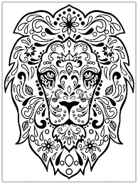 Printable Coloring Pages For Kidspdf Stylish Design Adult Book Realistic Lion Free Adults Patterns Advanced Pdf