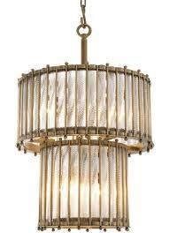 casa padrino luxus hängeleuchte antik messingfarben ø 52 5 x h 83 cm runde messing pendelleuchte mit handgemachtem glas