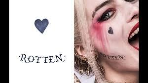 Batman Un Long Halloween Pdf by Get A Detailed Look At Margot Robbie U0027s Harley Quinn Tattoos For
