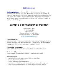Bookkeeper Resume Sample Samples Australia Junior Canada Summary