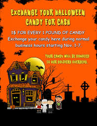 Donate Halloween Candy To Troops Overseas by Halloween Cash For Candy Exchange