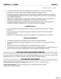 Retail Manager Resume Cover Letter And Operations Customer Service Summary