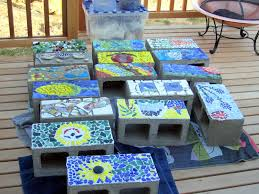 raised beds 12 How to mosaic your cinder blocks for your raised