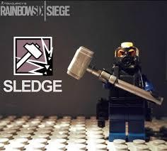 siege lego custom rainbow 6 lego sledge rainbow6