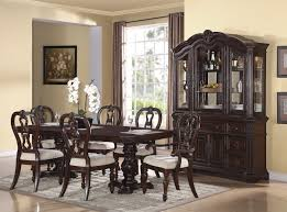 Formal And Elegant Dining Room Sets Simple With Dark Wooden Pedestal