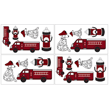 100 Fire Truck Wall Decals Shop Sweet JoJo Designs Frankies Truck Decal Stickers Set
