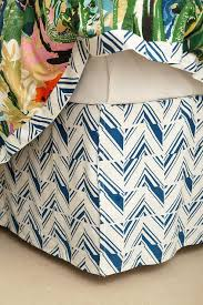 and Navy Geometric Print Bedskirt