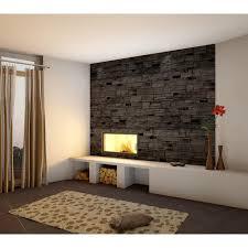 verblender brickstone schwarz 55 x 15 cm