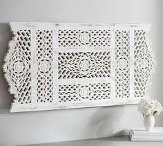Adelaide Carved Wood Panel Mirror Wall ArtGlass