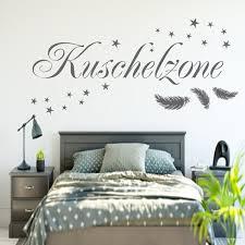 kuschelzone wandtattoo wandaufkleber schlafzimmer