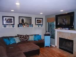 Grey Brown And Turquoise Living Room by Turquoise Living Room Curtains Black Led Tv On Opposite Wall