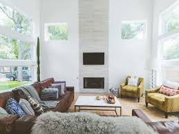Houzz Living Room Lighting by Recessed Lighting Chairs Framed Wall Art White Shades