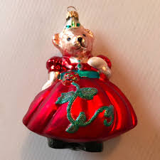 Dillards Christmas Decorations 2013 by Mint Christopher Radko Muffy With Red Dress Christmas Ornament