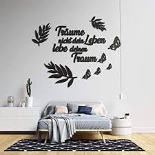 3d wandtattoo schlafzimmer aus holz mit dem spruch träume nicht dein leben lebe dein traum in verschieden farben große l 100cm x 120cm sprüche