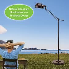 Verilux Floor Lamps Reading by Verilux Brookfield Natural Spectrum Floor Lamp All Metal