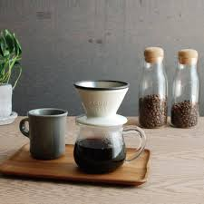 KINTO SLOW COFFEE STYLE Porcelain 2 Cup Brewer Pour Over Filter Cone Colours