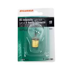 sylvania 40 watt high intensity light bulbs incandescent clear