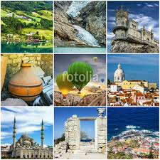 Travel Collage European Landmarks Portugal Madeira Istanbul Stock Photo And Royalty Free Images On Fotolia