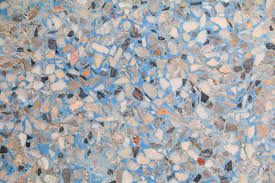 Stone Wall Texture Terrazzo Floor Marble Blue Color Beautiful