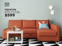 ikea orange sofa bed google search pinteres