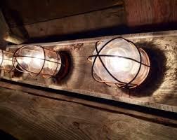 3 Bulb Nautical Beach House Bathroom Vanity Bulkhead Light Fixture
