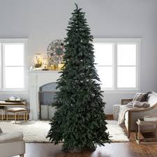 Pre Lit Pencil Slim Christmas Trees by Finley Home 10 Ft Classic Pine Clear Pre Lit Slim Christmas Tree