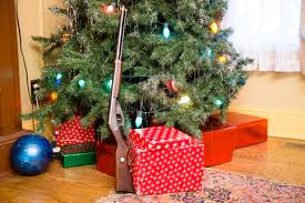The Red Rider BB Gun Used In Movie Under Tree At A Christmas Story