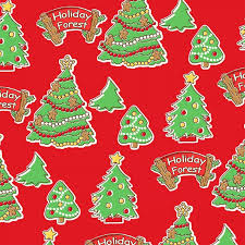 Red Christmas Trees From Storybook