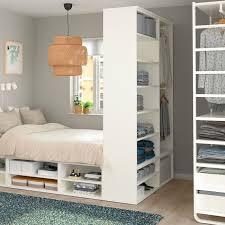 platsa bettgestell mit aufbewahrung weiß ikea schlafzimmer