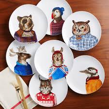 Dapper Animal Plates | West Elm AU Ding Beautiful Colors And Finishes Of Stoneware Dishes 2017 Best 25 Outdoor Dinnerware Ideas On Pinterest Industrial Entertaing Area The Sunny Side Up Blog Dinnerware Yellow Create My Event Drinkware Rustic Plate Plates And 11 Melamine Cozy Table Settings Stress Free Plum Design Red Platters Serving Tiered Pottery Barn
