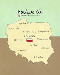 I Love You In Poland Typographic Print Polish Map Charts And Maps