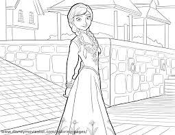 Disneys Frozen Coloring Pages Sheet Free Disney Printable At Elsa And Anna Page