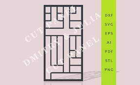 thelgron cut panel dxf svg eps ready to cut file cnc template