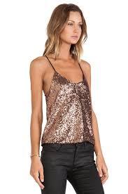 wyldr wise up cami top in metallic lyst