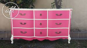 Black Dresser Pink Drawers by Furniture Painting Alchemy Fine Living