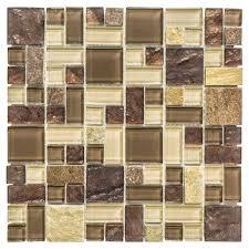 Jeffrey Court Mosaic Tile jeffrey court native ocean 12 in x 12 in x 8 mm marble mosaic