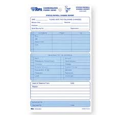 Status Payroll Change Form