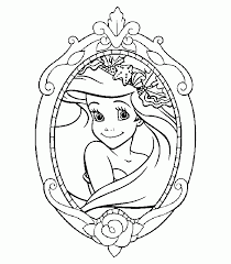 Simple Coloring Disney Princess Pages To Print For Free On
