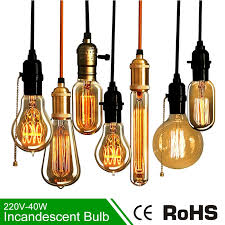40w incandescent l e27 220v edison l bulb light incandescent