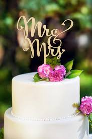 Mr And Mrs Antic Rustic Wedding Cake Topper Laser Cut Wood Letters Decorations Favors Supplies Engagement Gifts In Decorating